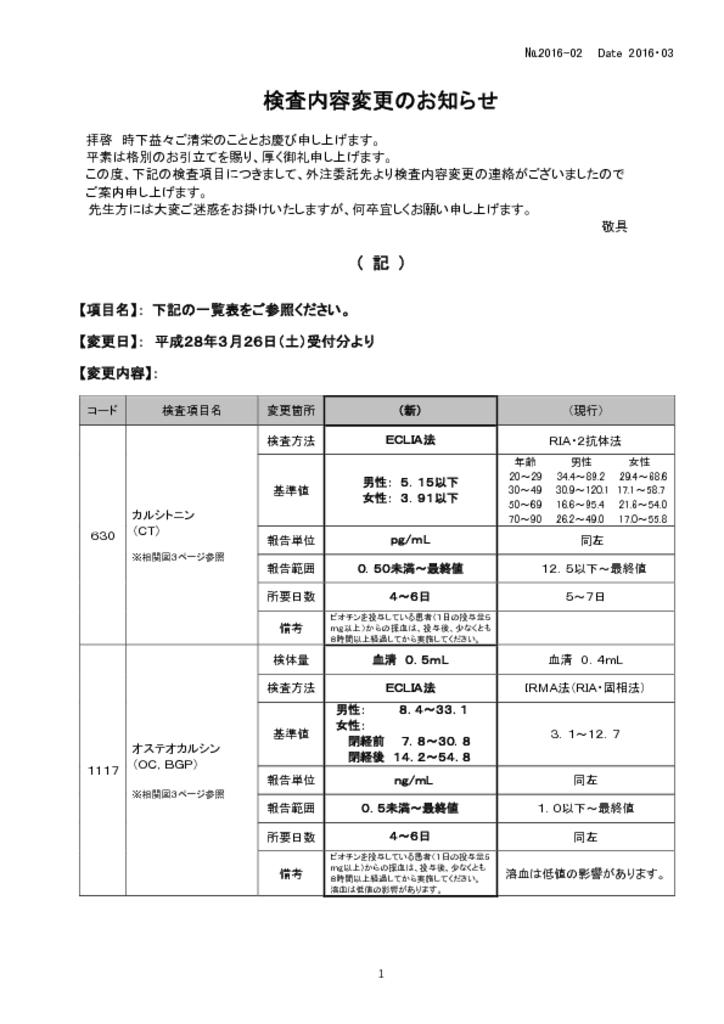 NO-02検査内容変更中止案内(BML) –のサムネイル