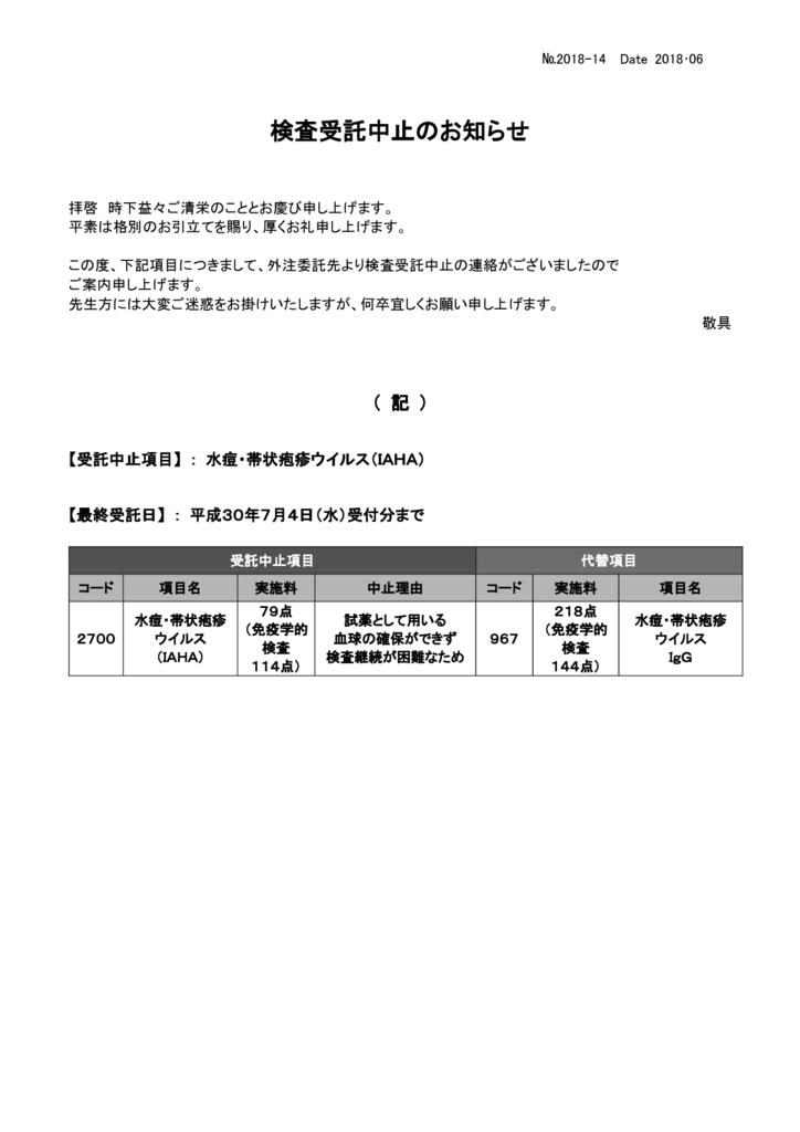 NO-14検査中止案内(水痘帯状IAHA)のサムネイル
