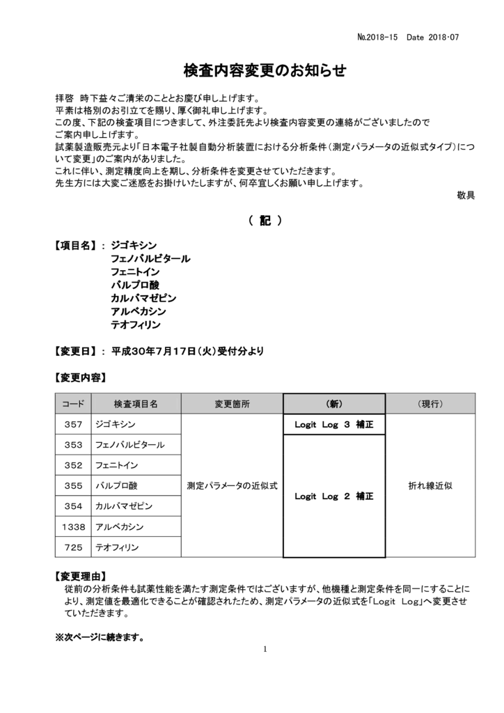 NO-15検査内容変更案内(薬物)のサムネイル