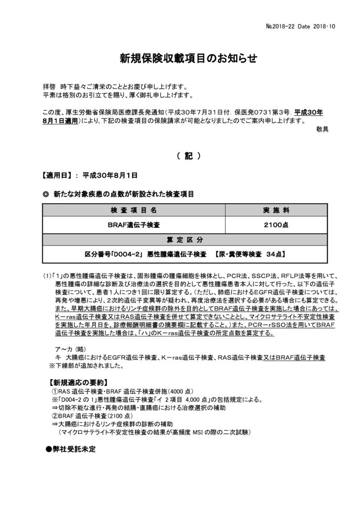 NO-22新規保険適用案内(BRAF遺伝子検査)のサムネイル