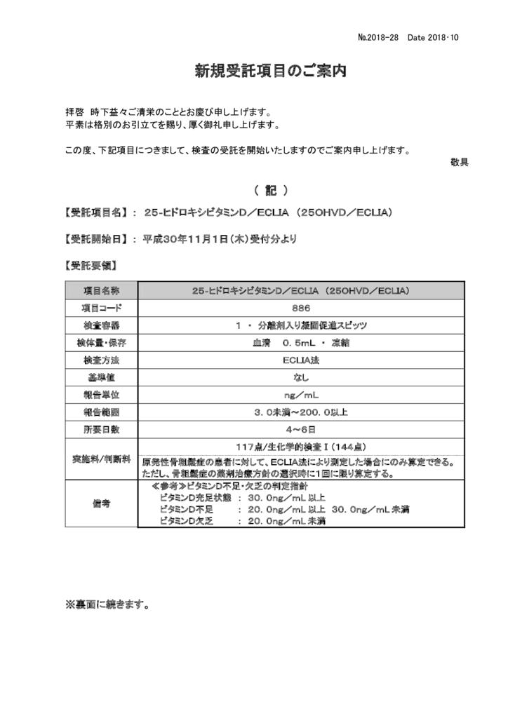 NO-28新規受託項目案内(25-ヒドロキシビタミンD)のサムネイル