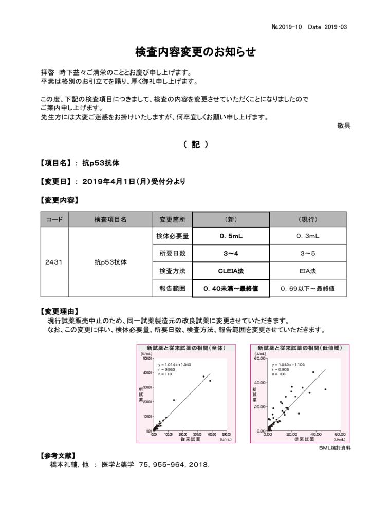 NO-10検査内容変更案内(抗P53抗体)のサムネイル