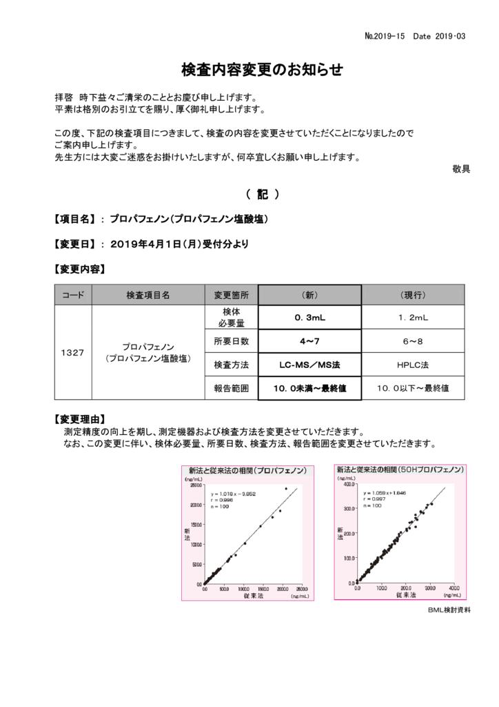 NO-15検査内容変更案内(プロパフェノン)のサムネイル