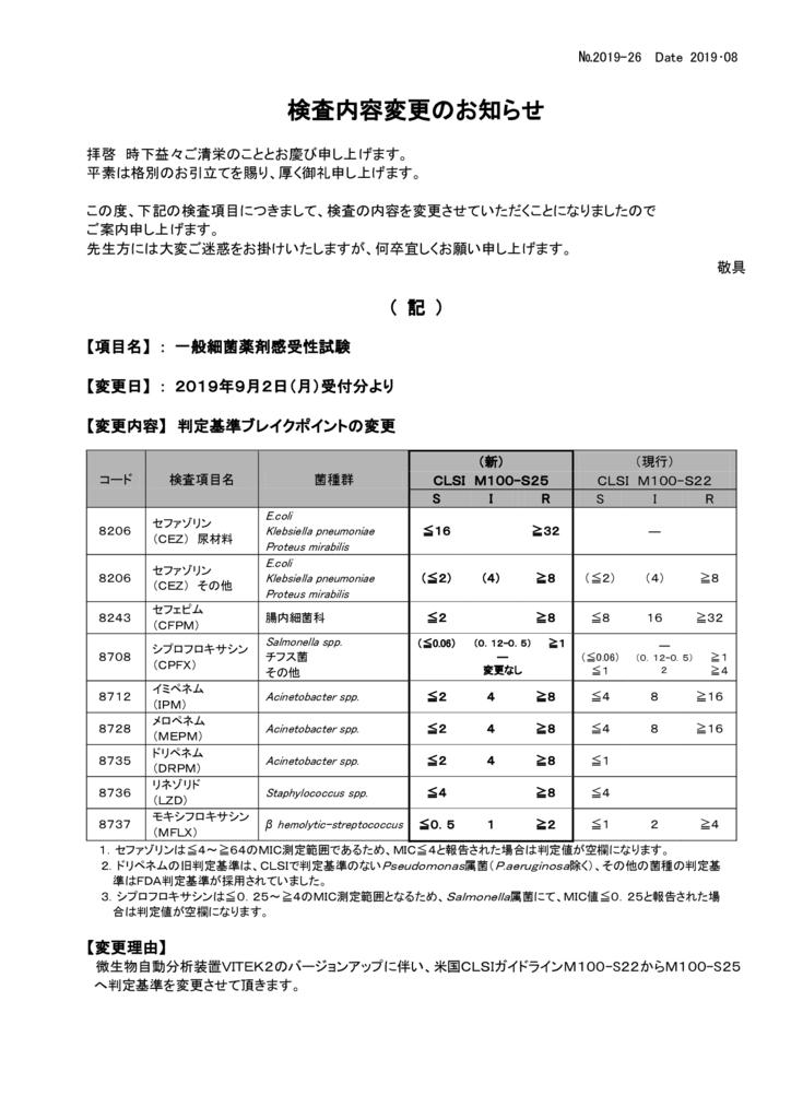 NO-26検査内容変更案内(一般細菌薬剤感受性試験)のサムネイル