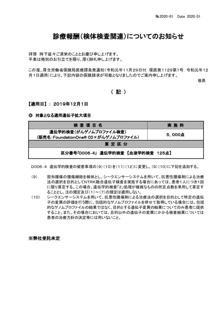 NO-01新規保険適用案内(がんゲノムプロファイル検査)のサムネイル