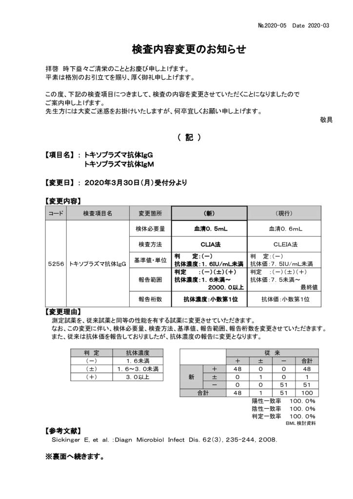 NO-05検査内容変更案内(トキソプラズマ抗体)のサムネイル