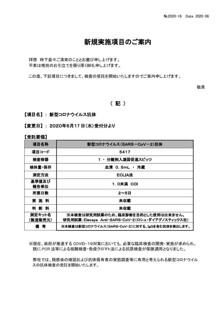 NO-16新規実施項目(新型コロナ抗体)のサムネイル
