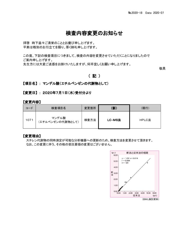 NO-18検査内容変更案内(マンデル酸)のサムネイル