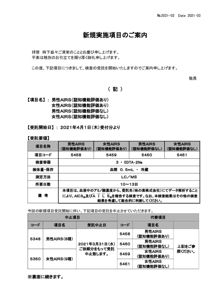 NO-02新規実施項目(男性AIRS、女性AIRS)のサムネイル