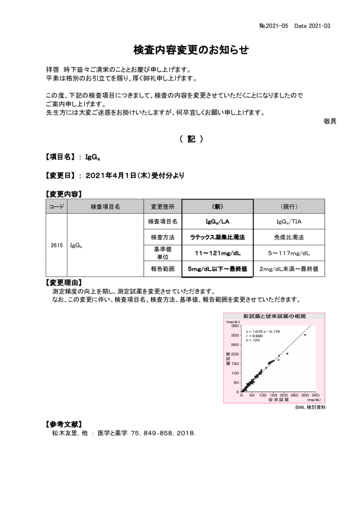 NO-05検査内容変更案内(IgG4)のサムネイル