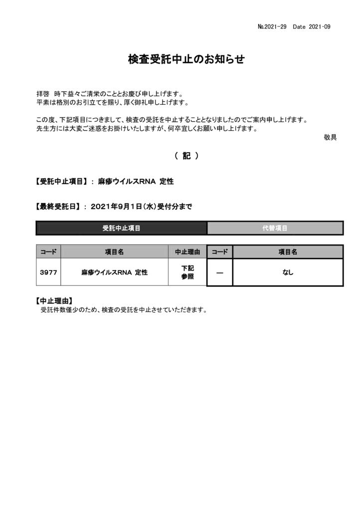 NO-29検査中止案内(麻疹ウイルスRNA定性)のサムネイル