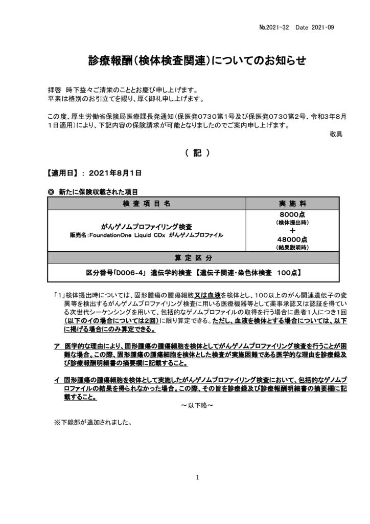 NO-32新規保険適用案内(がんゲノムプロファイリング検査他)のサムネイル